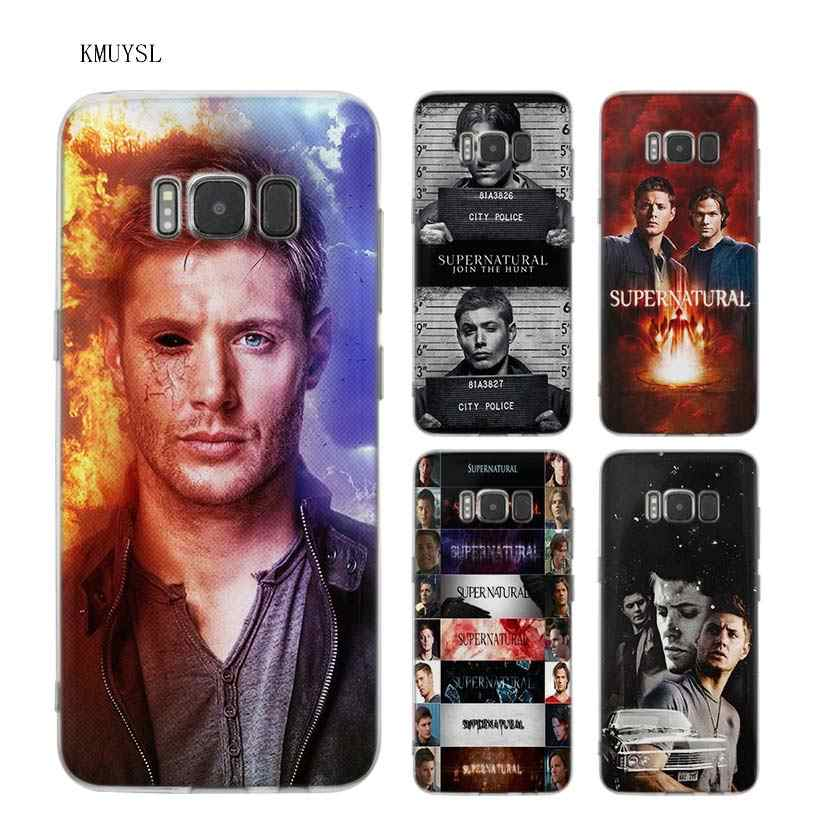 KMUYSL Supernatural tv show TPU Transparent Soft Case Cover Shell Coque for Samsung Galaxy S9 S8 Plus S7 S6 Edge