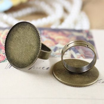 free shipping!!!!! bronze color 25mm pad Adjustable ring base jewelry findings accessories