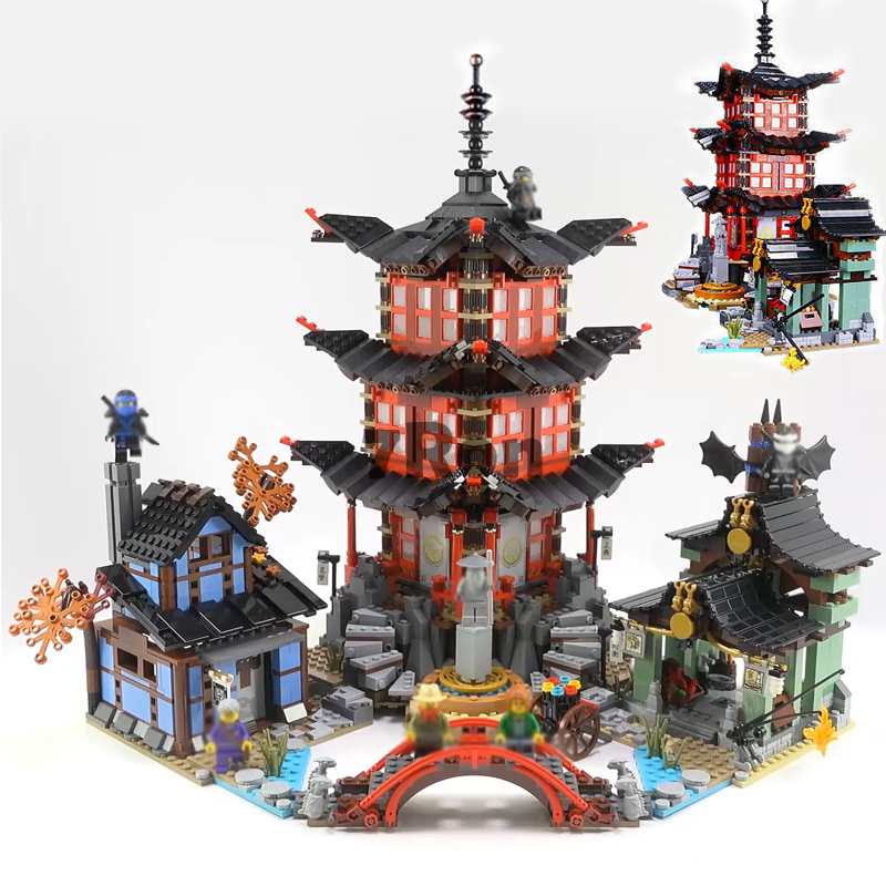 Temple of Airjitzu Model building toys hobbies Compatible with Lego blocks Ninjago 70751 06022 Figure education for children ninja temple model building blocks 06022 2150pcs assembly block toys for children ninja figure bricks compatible with legoinglys