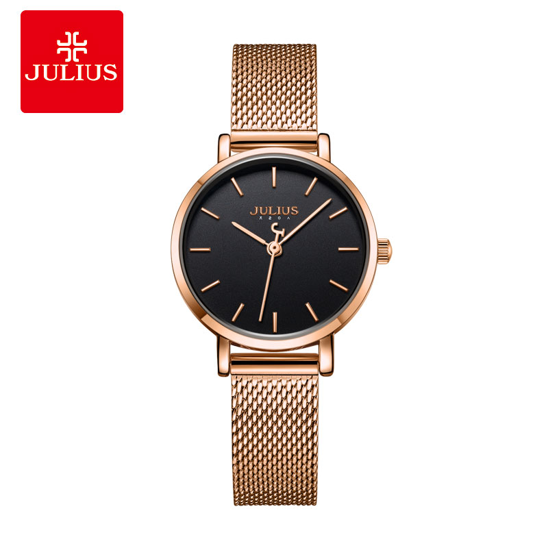 Julius Watch Ultra Thin 6mm Simplicity Casual Women s Watches Stainless Steel Fashion Top Brand Montre