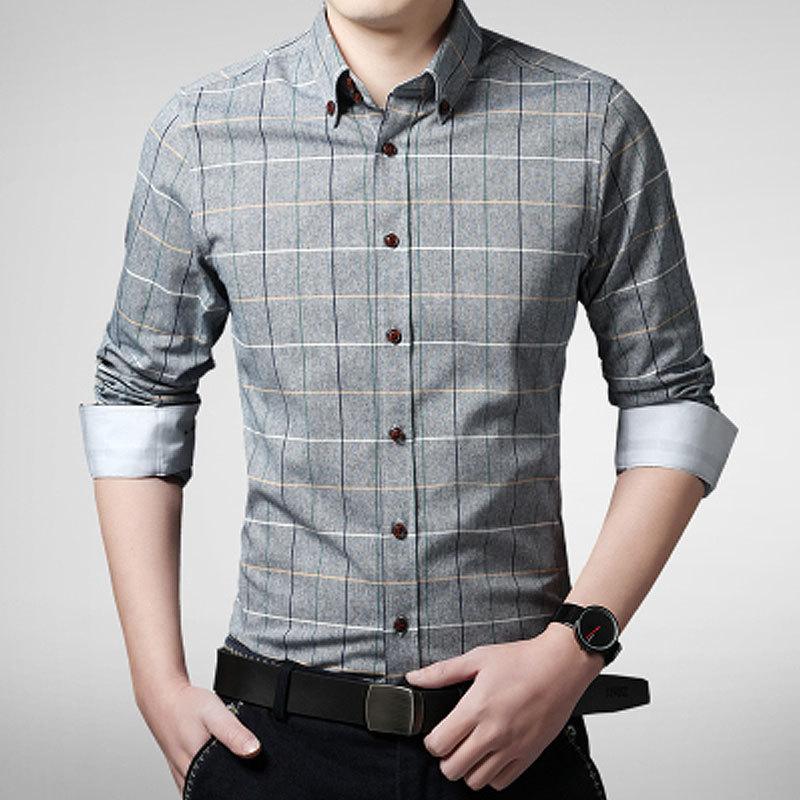 mens dress shirts men clothes shirt for men camisa masculina long