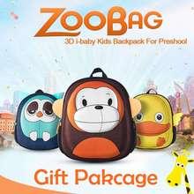 i-baby 3D Animal Design Zoo Kids Little Baby and Toddler Backpack School Bag Kindergarden Cartoon Ages 2+