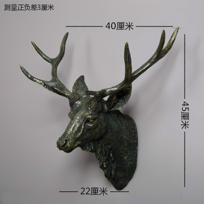 Dollhouse Miniature Deer Head Wall Decoration Refrigerator Magnet Clas craft statues Vintage Background wall sculpture Home dies - 3
