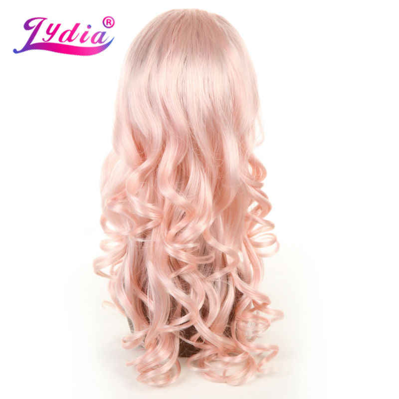 """Лидия искусственные полупарики 3/4 волос парики цвета в ассортименте; T613/розовый 20 """"Длинные волнистая повязка на голову парики для девочек в европейском и американском стиле; повседневные Применение & Вечерние"""