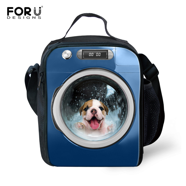 Preppy Style Insulated Lunch Bag for School Pet Dog Kids Cute Lunch Bags Women Animal Cat Children Kids Thermal Bag Lunch Bolsa