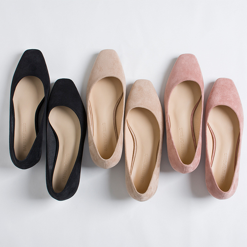 Casual 2019 Basso Comode Molla Nuovo colore Di Il cachi Semplice Solido Nero Modo Selvaggio Colore Professionale Tacco Rosa Scarpe Da Donna rrqZp