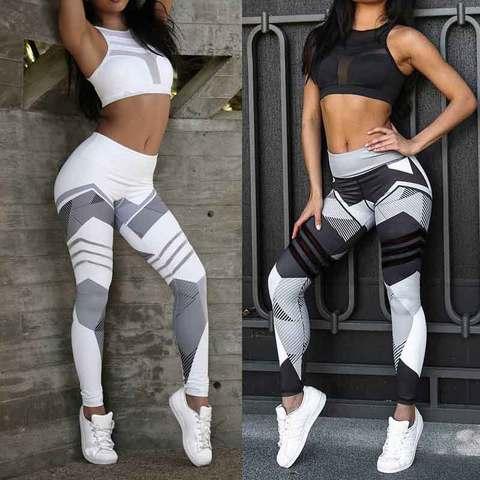 2019 Fashion GYM High Waist Leggings Women Sexy Hip Push Up Pants Jogging Gothic Running Leggins Legins calzas mujer Summer New Lahore