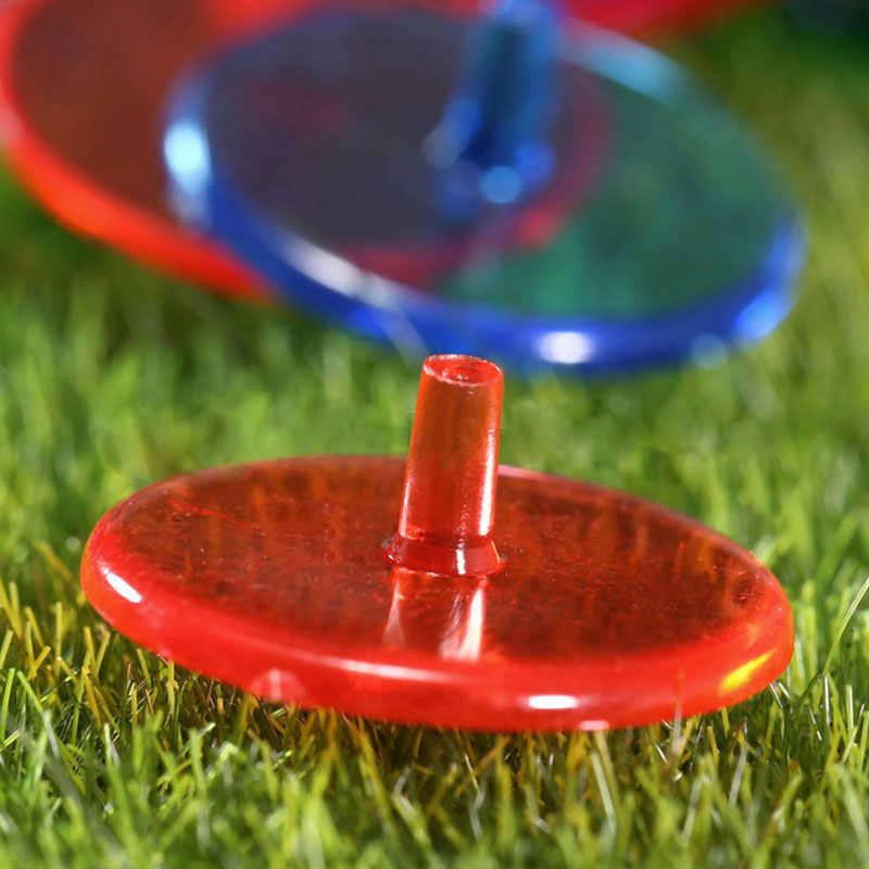 10 pcs פלסטיק גולף כדור סמני מיקום מגוון צבע סמן סימן
