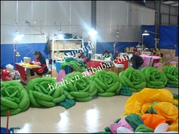 Green Inflatable Rose Flowers/Inflatable Flower for Wedding Decoration lighting inflatable flower for wedding decoration