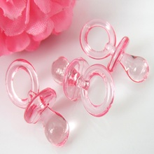 Set of 50 Small Decorative Pacifiers for Baby Shower Party