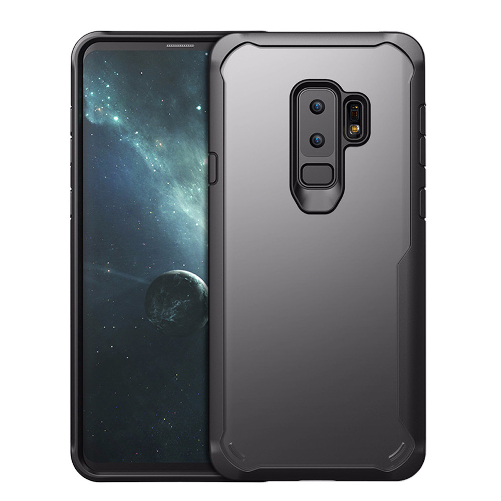 Drop Shipping 2019 High Quality Hybrid Rugged Rubber Protective Case Cover For Samsung Galaxy S9 Plus 6.2Inch BK Newest1217