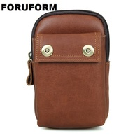 High Quality Men Genuine Leather Waist Bag Male Travel Fanny Pack Belt Loops Hip Bum Bag