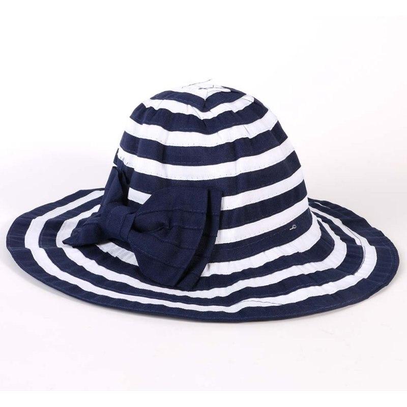 Fashion Girls Sun Hat Kids Cotton Hats Baby Girls Beach Hats Bowknot Female Child Sun Cap