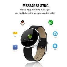 DM78 Cor Touch Screen Relógio Inteligente Pulseira Bluetooth Freqüência Cardíaca Relógio Pedômetro Rastreador De Fitness Rastreador Relógio da Pressão Arterial