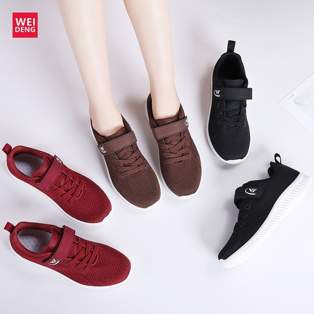 031be4fa41e8 WeiDeng Women Running Daddy Shoes Air Mesh Sport Slip on Non Slip Soft Sole  Breathable Lightweight Trainers Casual Female