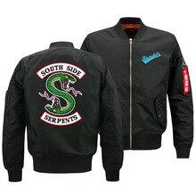 Осенняя и зимняя куртка мужская куртка Riverdale South Side Serpents куртка Air Force One Flight Jacket Flight Suit