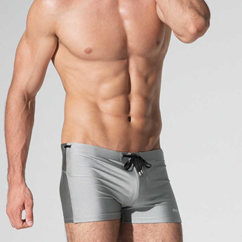 0d9ec5d3b9 Detail Feedback Questions about DESMIIT Men Pad Swimsuit Sexy Swimming  Trunks Swimwear Gay Male Beach Board Surfing Bathing Suit Boxer Shorts  Summer Swim ...