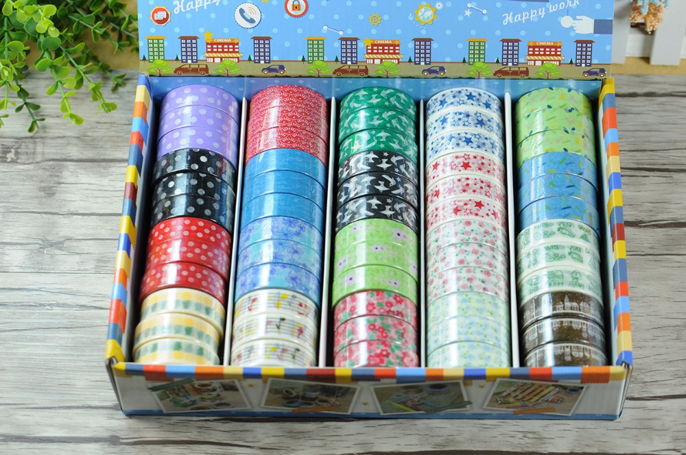 ФОТО 2016 New 1x Japanese Washi Paper Tape Set Kawaii Decorative Masking Tape Lot Scrapbooking Sticker Korean Stationery ,20 Patterns