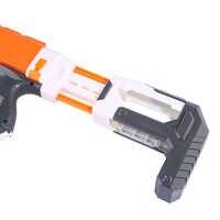 Modificato ABS Intarsio Tipo di Coda Stock per Nerf N-strike Elite Series-Arancio + Grigio