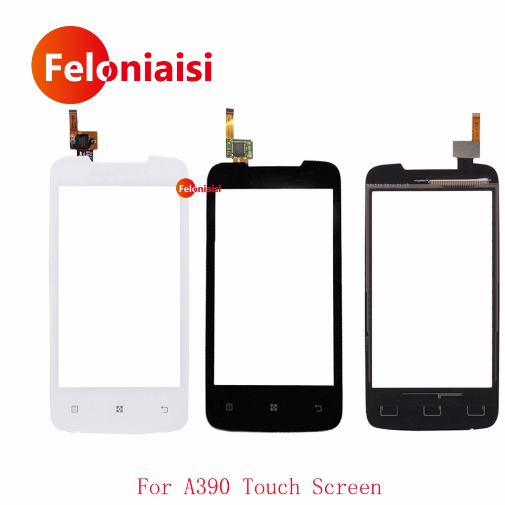 High Quality 4.0 For Lenovo A390 Touch Screen Digitizer Sensor Front Glass Lens Panel Black White+Tracking Code