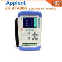 Горячие AT4808 8 Каналы ручной Температура регистратор данных термопары J/K/T/E/S/N /B портативный цифровой термометр TFT ЖК дисплей USB