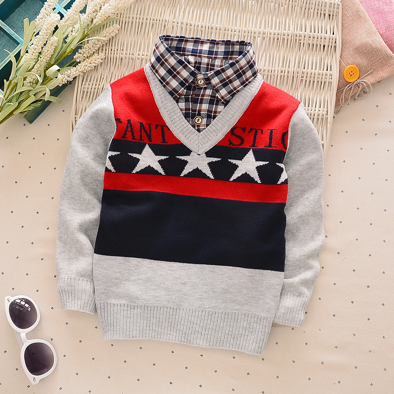BibiCola Children Sweaters Shirts baby boys girls knitted warm sweater Autumn winter Pullover Sweater fancy kids clothing