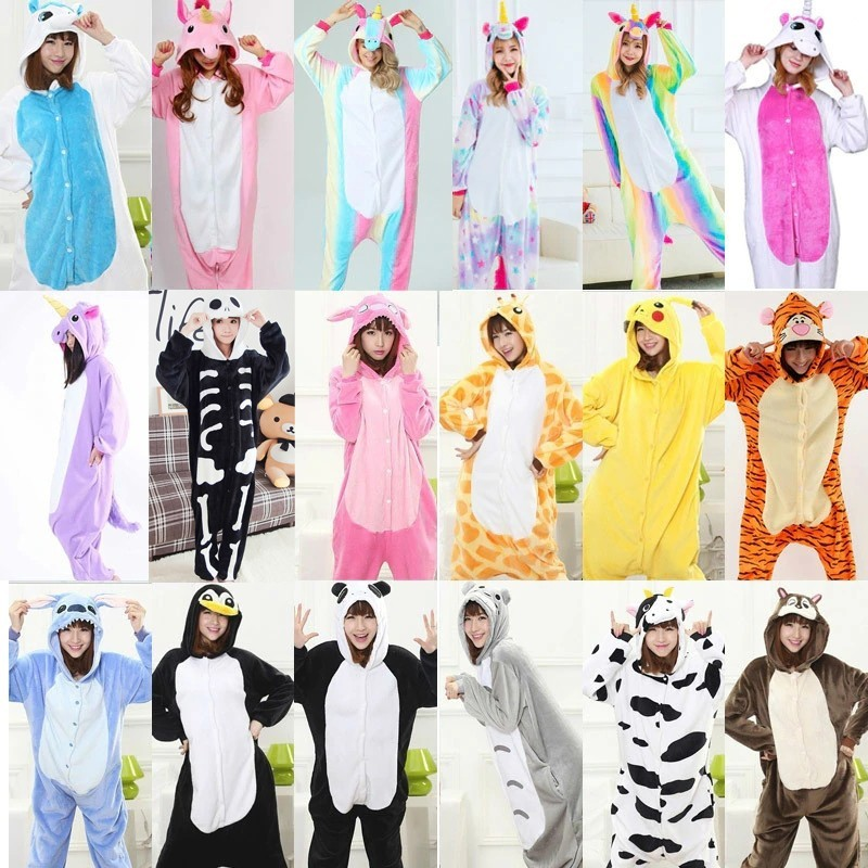 Newest Animal Black Cat Onesie Kigurumi Adult Women Fantasy One Piece Jumpsuit  Fleece Loose Cute Pajama Winter Games Sleep Suit