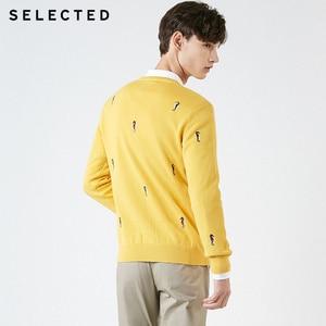 Image 4 - Мужской трикотажный пуловер из 100% хлопка с вышивкой животных, одежда для свитера C