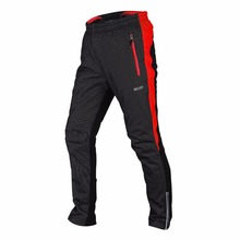 ARSUXEO Winter Windproof Men's Cycling Pants with Three-layer Composite Fleece Warm Men MTB Bike Bicycle Long Pants Downhill цена и фото