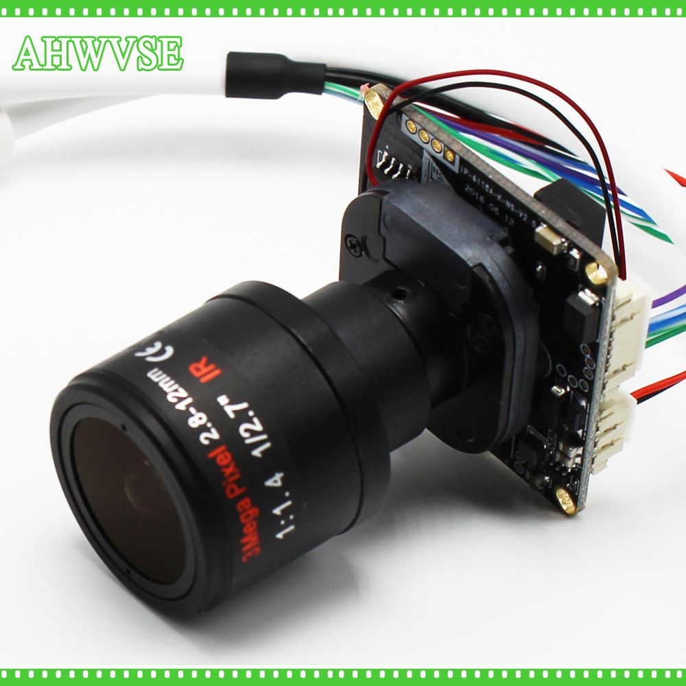 AHWVSE High Resolution H.264 1080P 960P CCTV IP Camera Module Board 2.8-12mm Lens With LAN Cable Security Camera ONVIF P2P