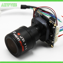 AHWVSE High Resolution H 264 1080P 960P CCTV IP camera module board 2 8 12mm Lens