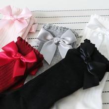 New Kids Socks Toddlers Girls Big Bow Knee High Long Soft Cotton L