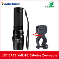 5 Modes E17 CREE XML T6 LED Flashlight Torch 3800LM Waterproof 18650 Zoomable Tactical Portable Light for Hunting Bicycle