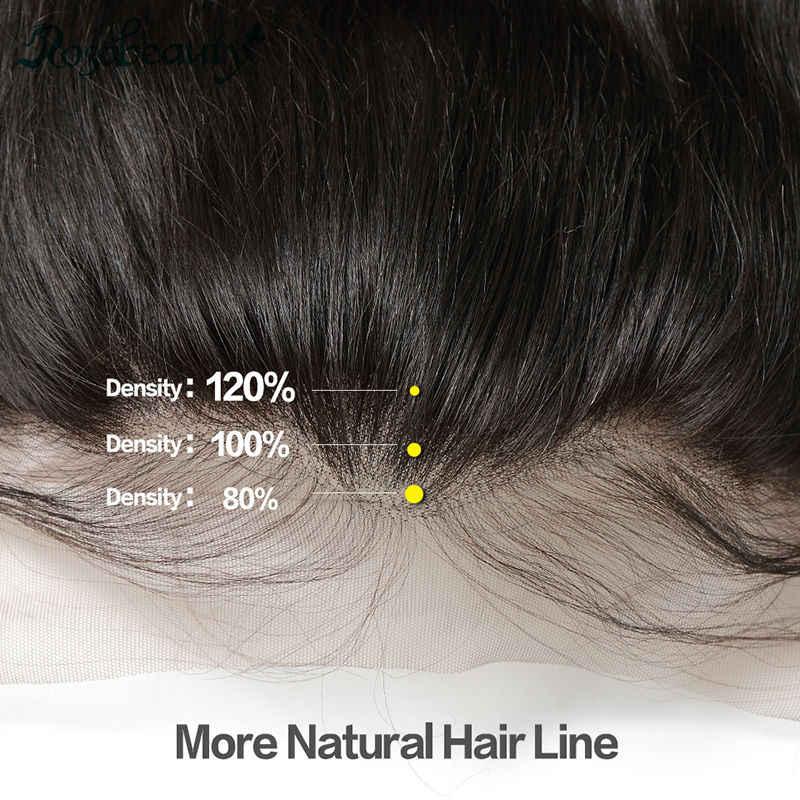 Rosa Beauty Body Wave 3/4 mechones con cierre Frontal 8A cabello brasileño tejido mechones con encaje Frontal Remy extensión de cabello