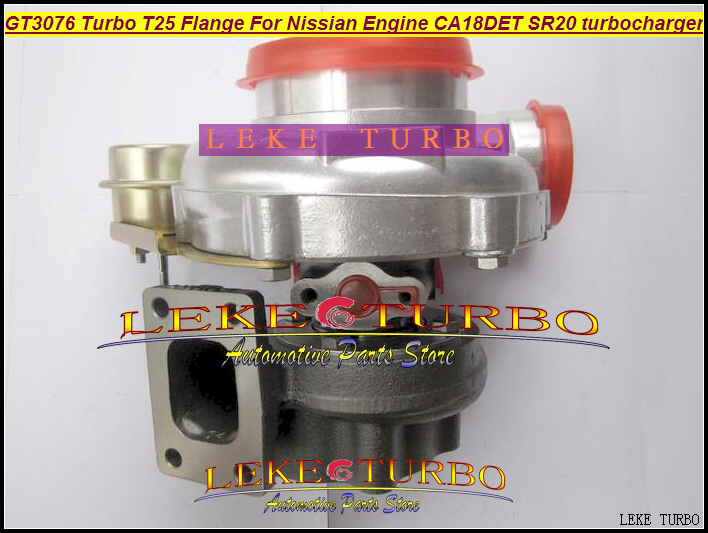 Wholesale NEW GT3076 T25 Flange Turbo Turbine Turbocharger For Nissian Engine CA18DET SR20 Turbo With free all Gaskets free ship turbo rhf5 8973737771 897373 7771 turbo turbine turbocharger for isuzu d max d max h warner 4ja1t 4ja1 t 4ja1 t engine