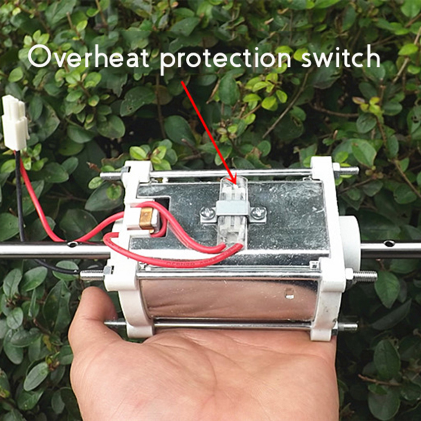 Dual Axis DC Motor 24V High Speed Motor with Overheat Protection Switch Front And Rear Ball Bearings 2500RPM Shaft Diameter 8mm Dual Axis DC Motor 24V High Speed Motor with Overheat Protection Switch Front And Rear Ball Bearings 2500RPM Shaft Diameter 8mm