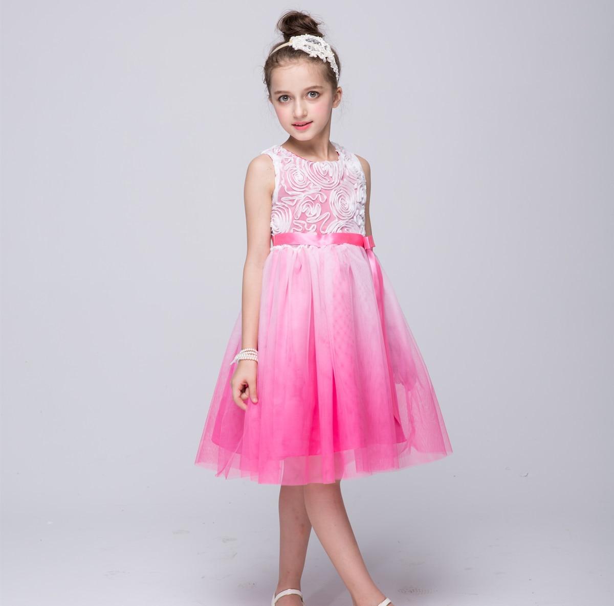 0731d9d9b8 Dziewczyna sukienka na imprezę 2 3 4 5 6 7 8 9 10 11 lat dzieci ubrania  letnie dziewczyny kostium sukienka dla księżniczki bez rękawków szata fille