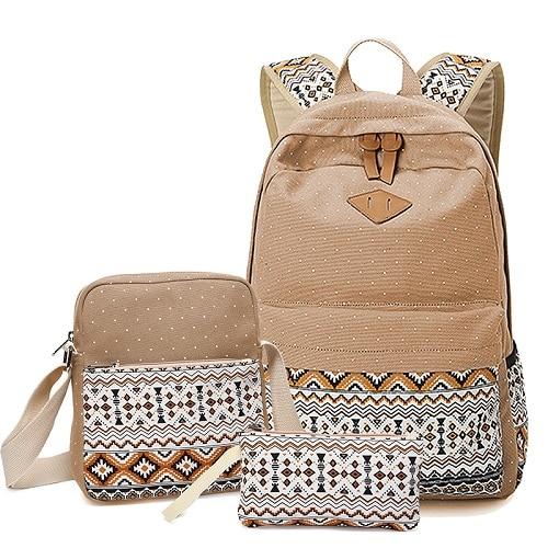 9c4642f617c9 Dropwow 2018 vintage school bags for girls kids bag canvas backpack ...