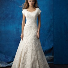 cecelle Champagne Vintage Wedding Dresses 2019 Cap Sleeves