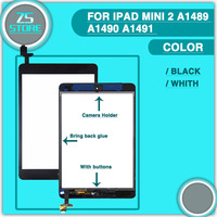 High Quality Touch Panel For Ipad Mini 1 2 3 Touch Screen Digitizer Home Button Assembly