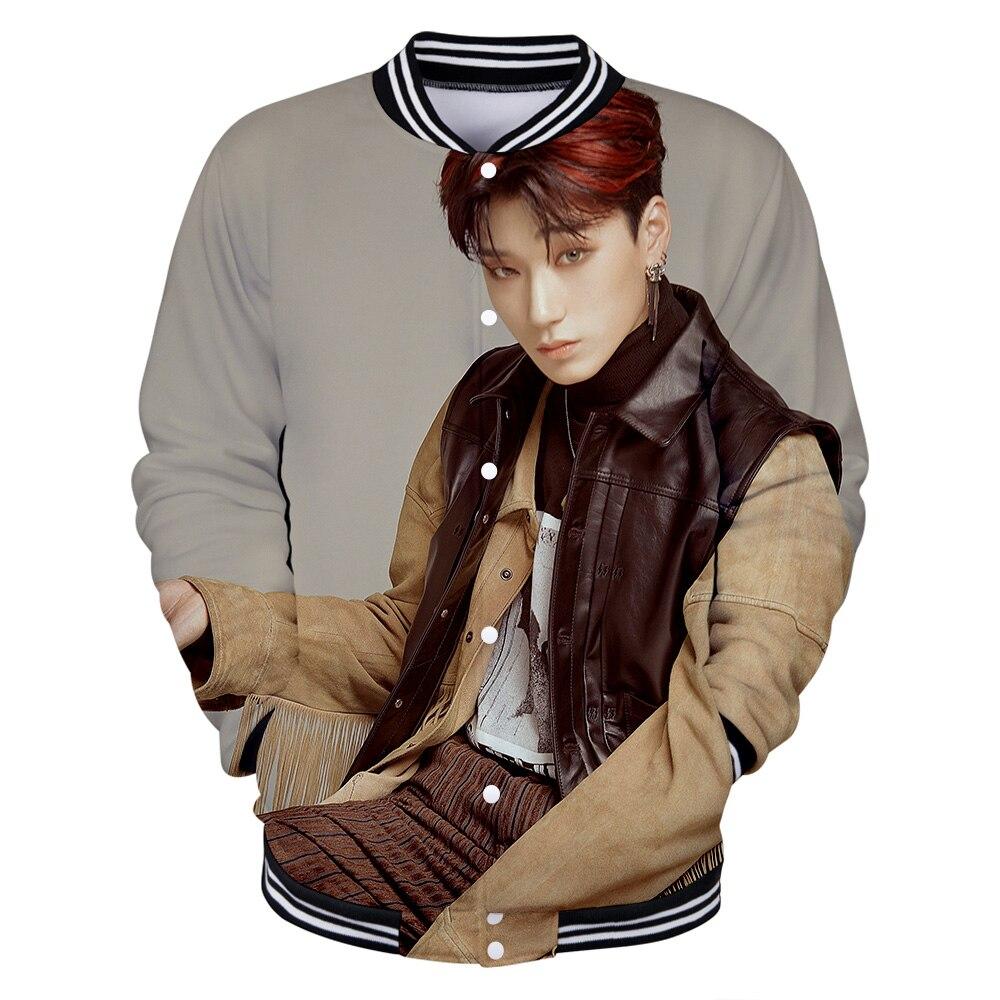 Kpop ATEEZ idole Photo o-cou à manches longues veste de baseball Hongjoong Seonghwa Yunho Yeosang San Mingi Wooyoung Jongho