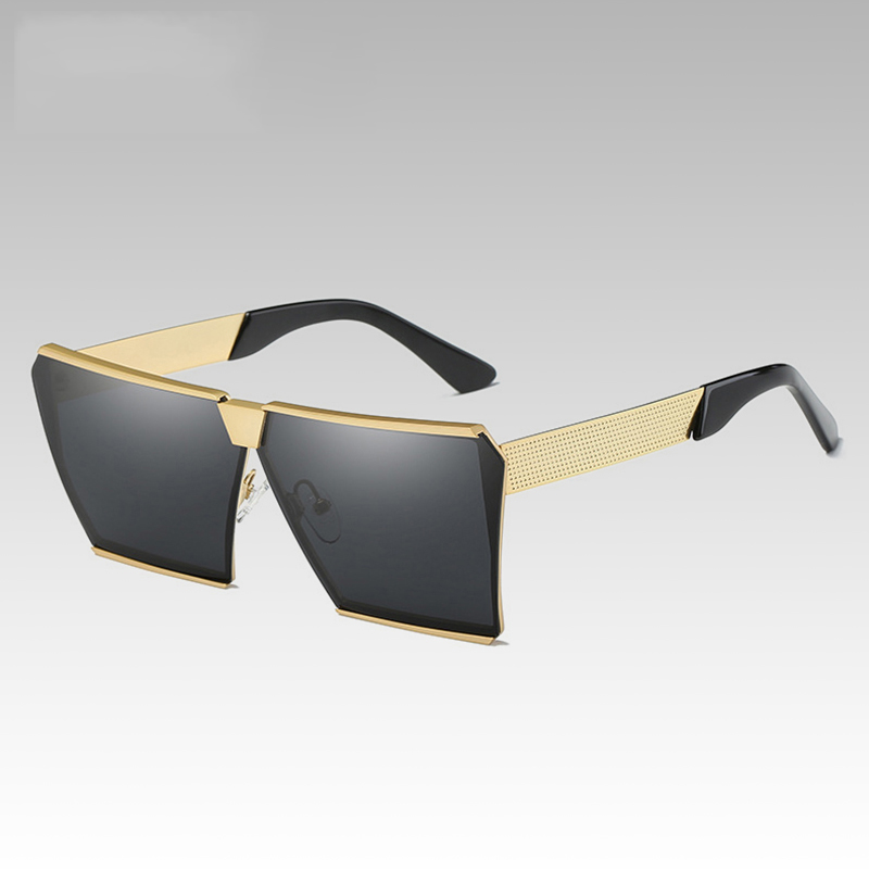 Square Mens Meatl Sunglass Women Sunglasses Colour Frame Unique Design Sunglasses Women Oversized Square Pilot Glasses  WD0908