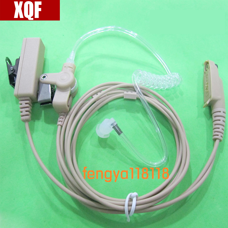 XQF Natural Air Pipe Headphones For Motorola GP328PLUS /GP328+/344 EX500/600 Two Way Radio