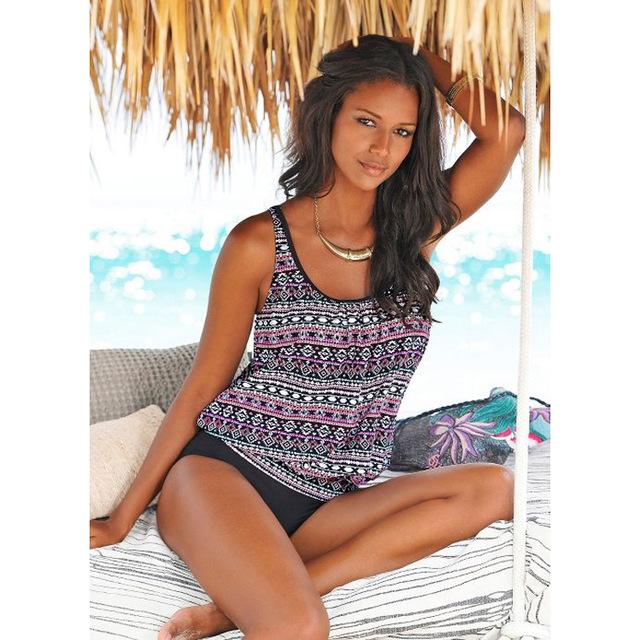 Swimwear 2019 Sexy Swimsuit Women Plus Size Tankini Sets Swim Vintage Beach Wear Bathing Suits Female Bandage Monokini Swim Suit