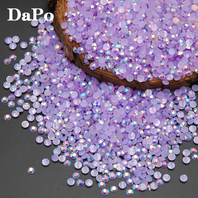 2017 Special Sales Jelly Light Amethyst AB Color Resin Rhinestone For 3D DIY  Nail Art Phone 74b48e356742
