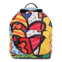ROMERO BRITTO 2016 Free Shipping Hot Sale College Cartoon Backpack School Bags Female Bag Shoulder Bag Outside Backpacks