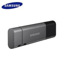 삼성 USB 3.1 플래시 드라이브 128 GB 듀오 플러스 속도 최대 300 메가바이트/초 OTG TypeC USB C 펜 드라이브 128 gb 크롬 북 및 Macbook cle usb