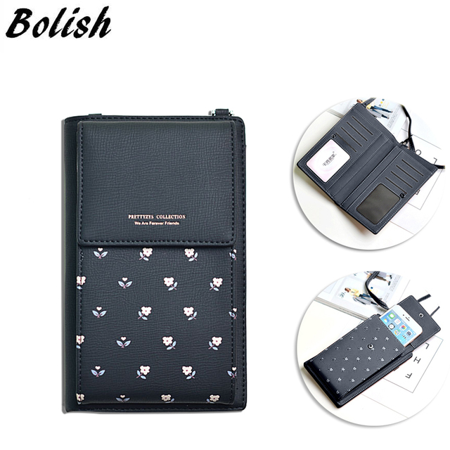 Ladies Cellphone Bag Japan And Korea Fashion Print Multi Function