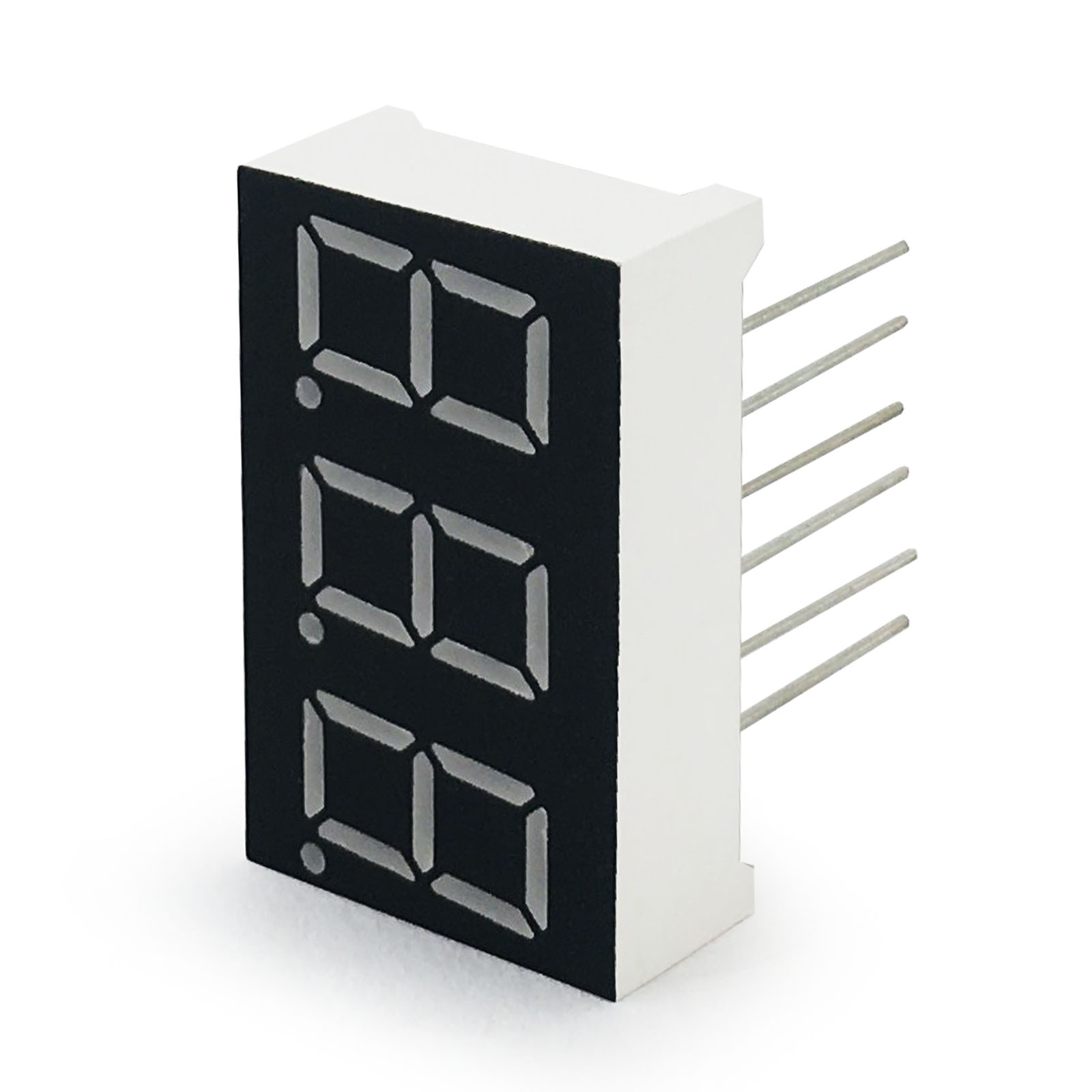 MCIGICM 10pcs 7 Segment Common Cathode 3 Bit Digital Tube 0.36