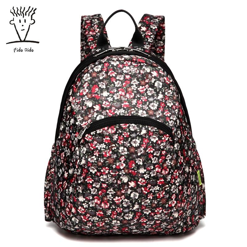 Fido Dido Shoulder Bag Female Korean Version of the Backpack School Students School Bag School Travel Bag Backpack Computer Bag! fido
